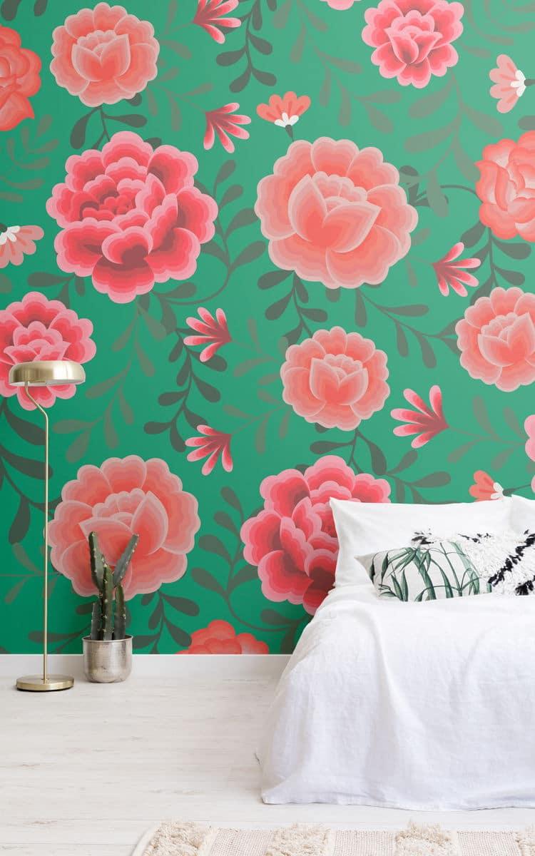 Muralswallpaper La Carta Da Parati Con Fantasie Ispirate A Frida Kahlo