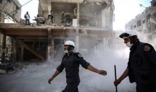 caschi bianchi siria evacuazione