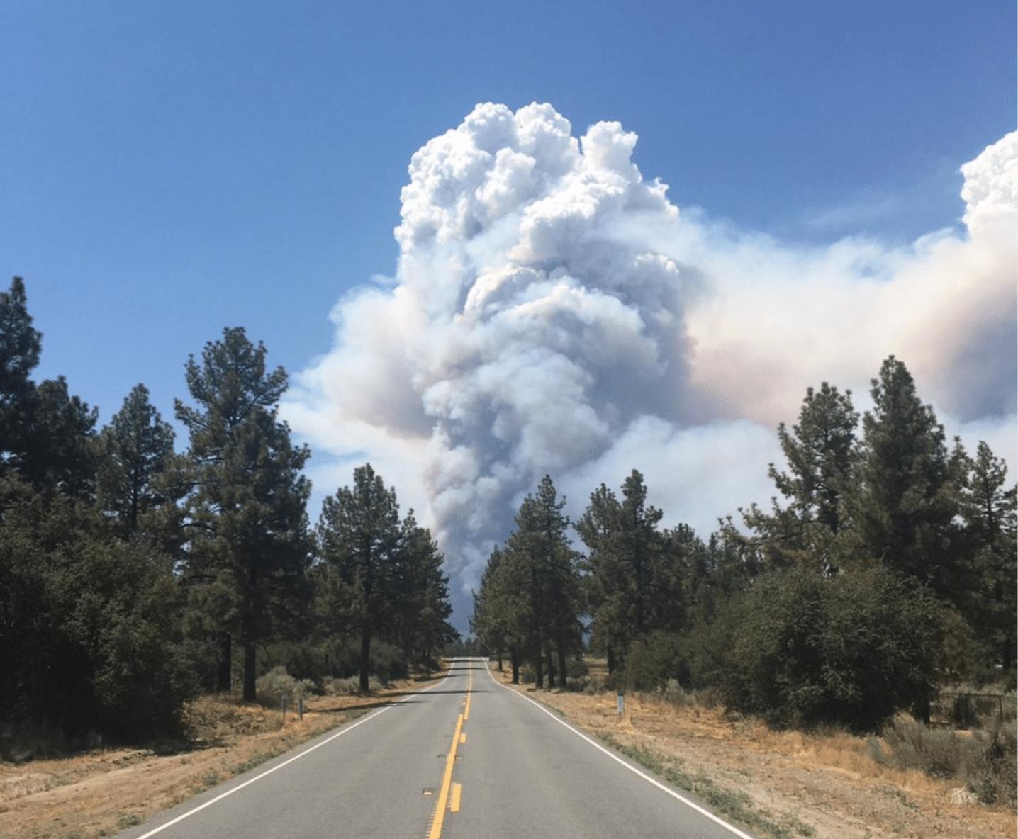 nuvole vulcaniche california