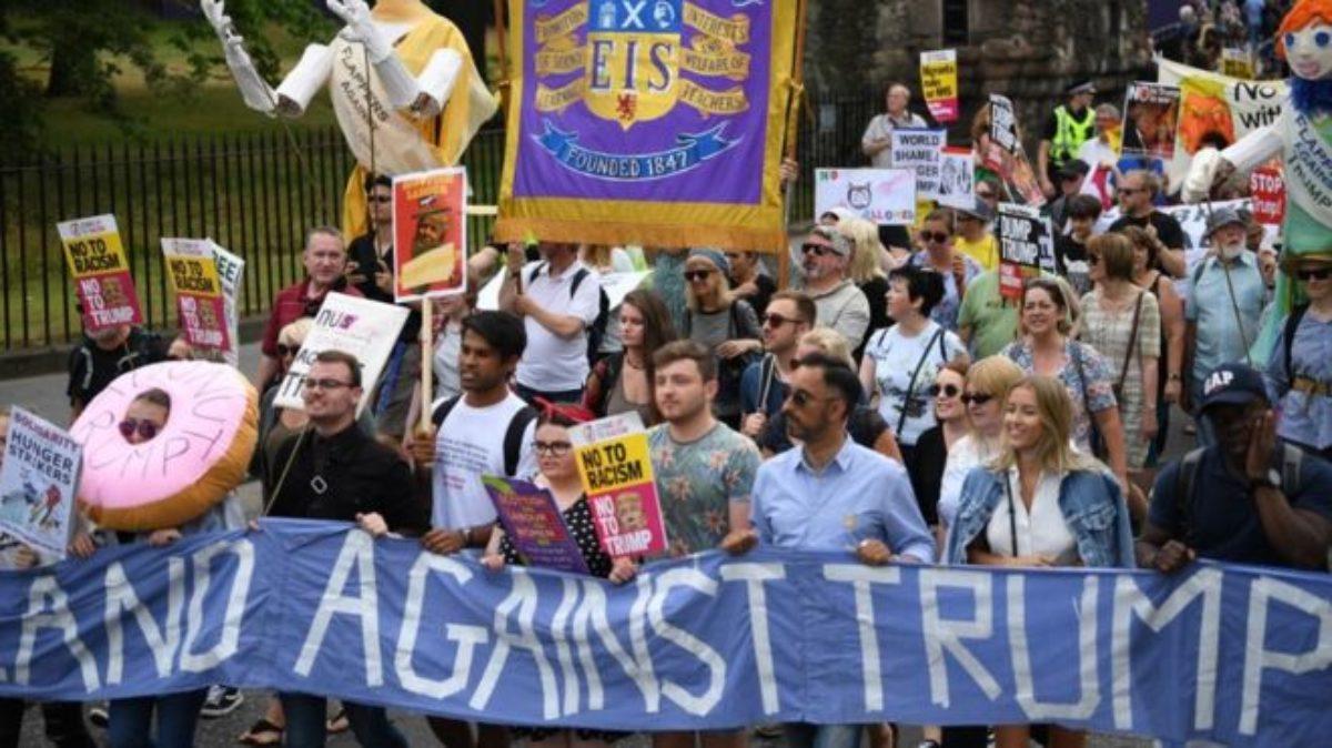 trump scozia proteste