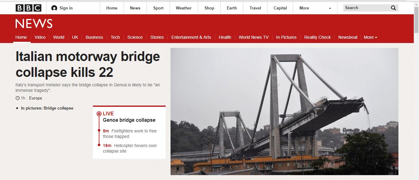 ponte genova siti stranieri