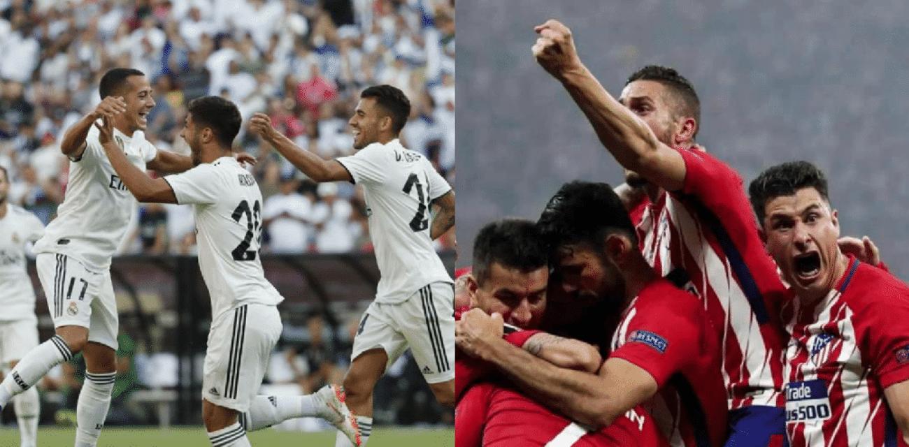 Real Madrid Atletico Madrid streaming tv