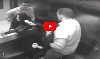 video marito picchia moglie ascensore