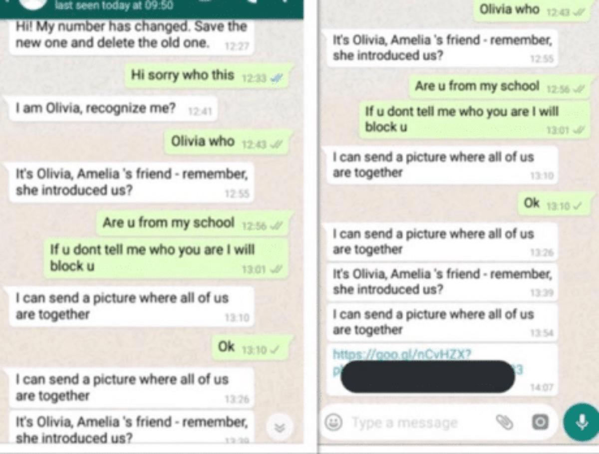 Pericolo su WhatsApp Olivia