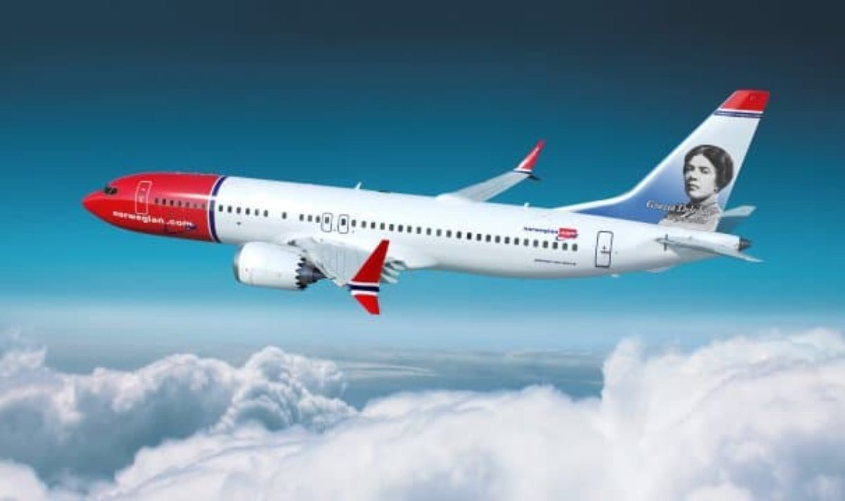 Norwegian aereo grazia deledda