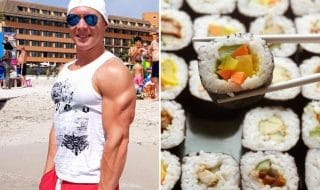 atleta tedesco sushi