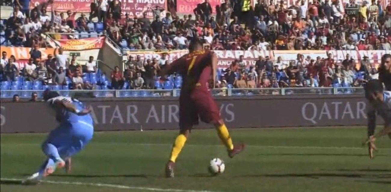 gol Pellegrini Roma-Lazio