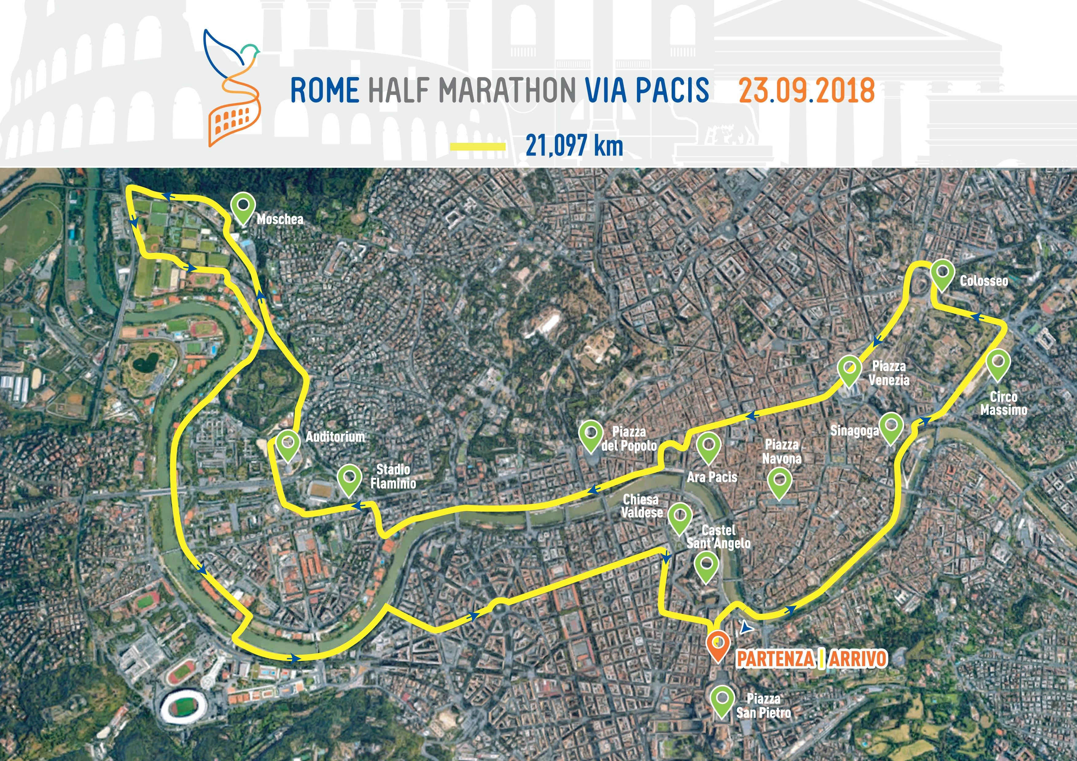 Roma Half Marathon 2018 strade chiuse