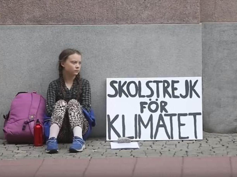 svezia sciopero bambina