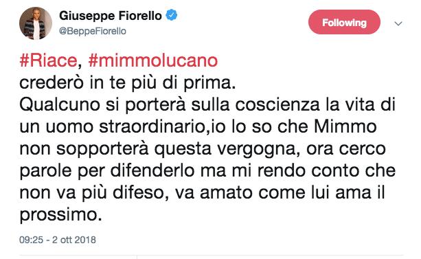 Sindaco Riace Beppe Fiorello