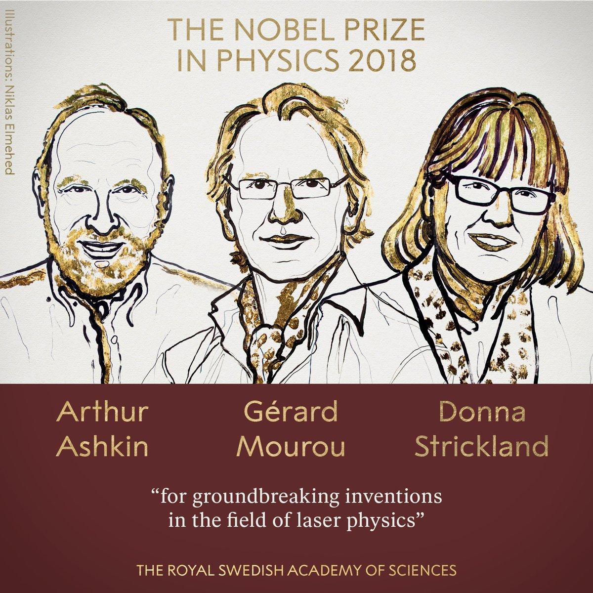 Nobel per la Fisica 2018 ad Askin, Mourou e Strickland