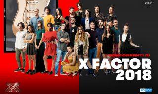 x factor 2018 concorrenti live
