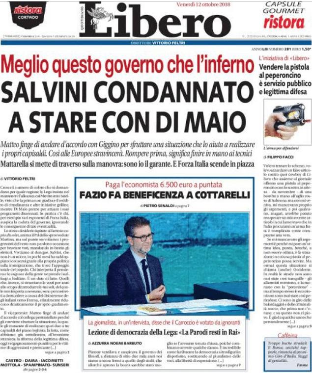 caso cucchi giornali prima pagina