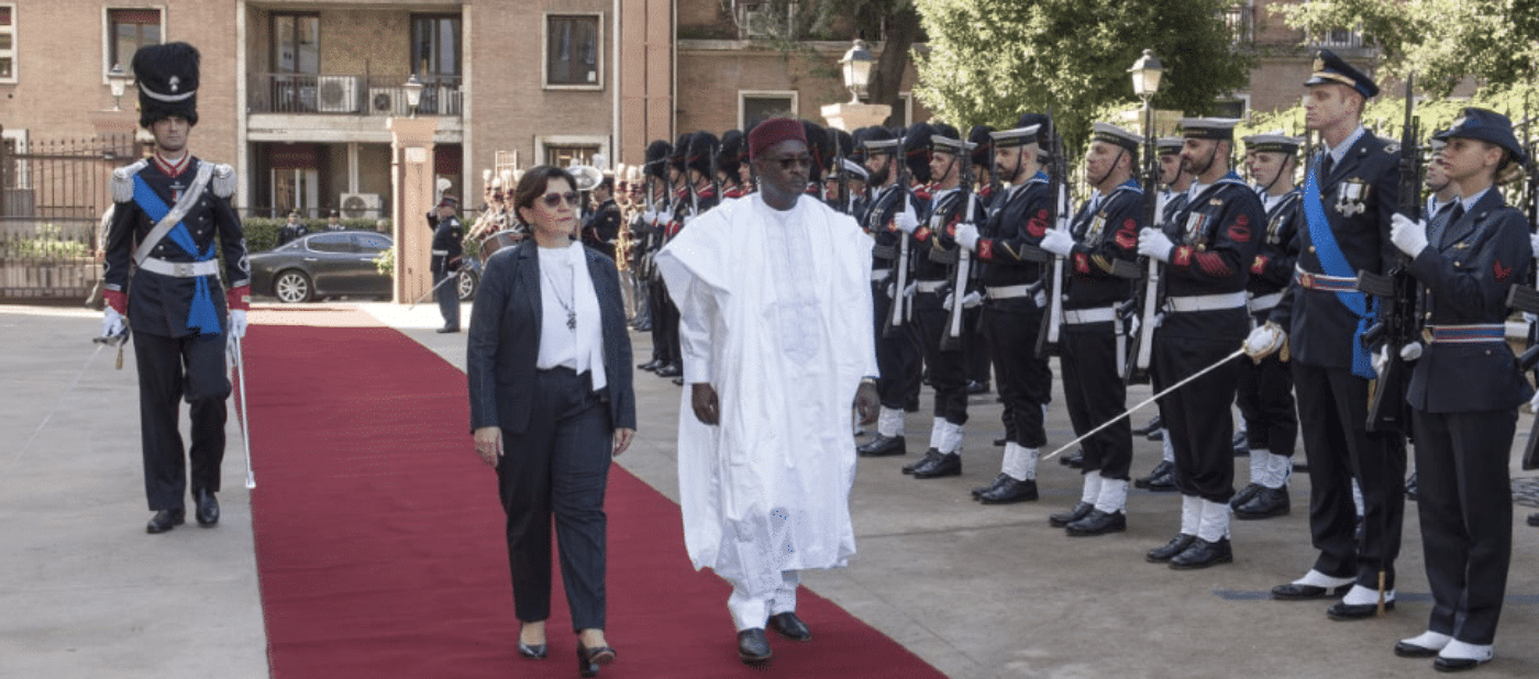 incontro ministro difesa niger trenta