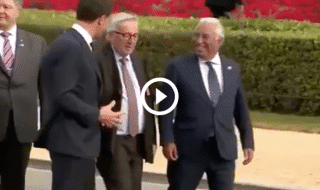 salvini juncker ubriaco video