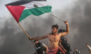 palestinese bandiera foto virale
