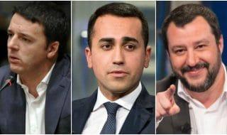 salvini renzi di maio vuoto politico