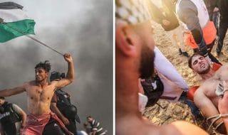 palestinese bandiera foto sparato