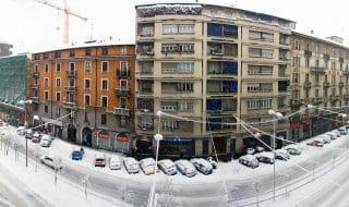 Quando nevica a Milano