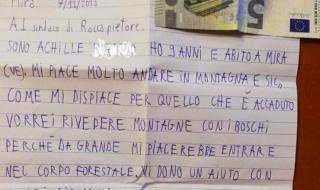 bambino 5 euro lettera maltempo