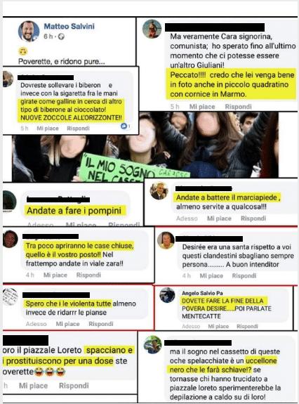 commenti foto salvini studentesse