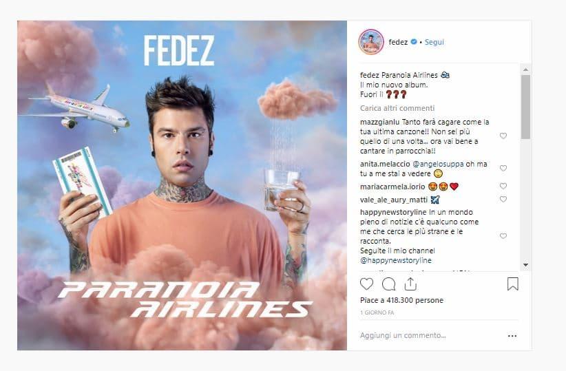 fedez paranoia airlines album