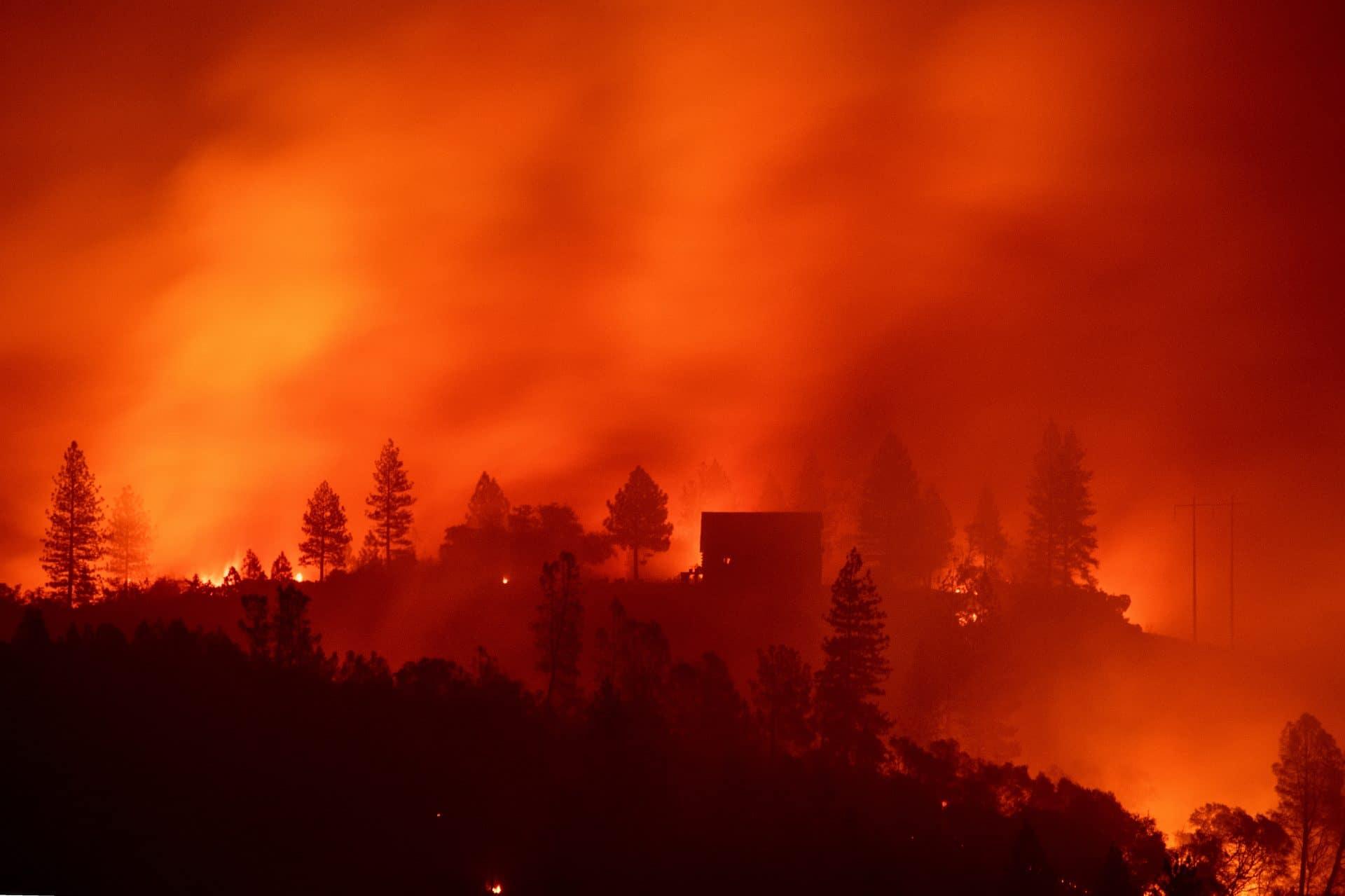 incendio california foto