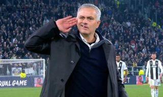 juventus manchester united esultanza mourinho