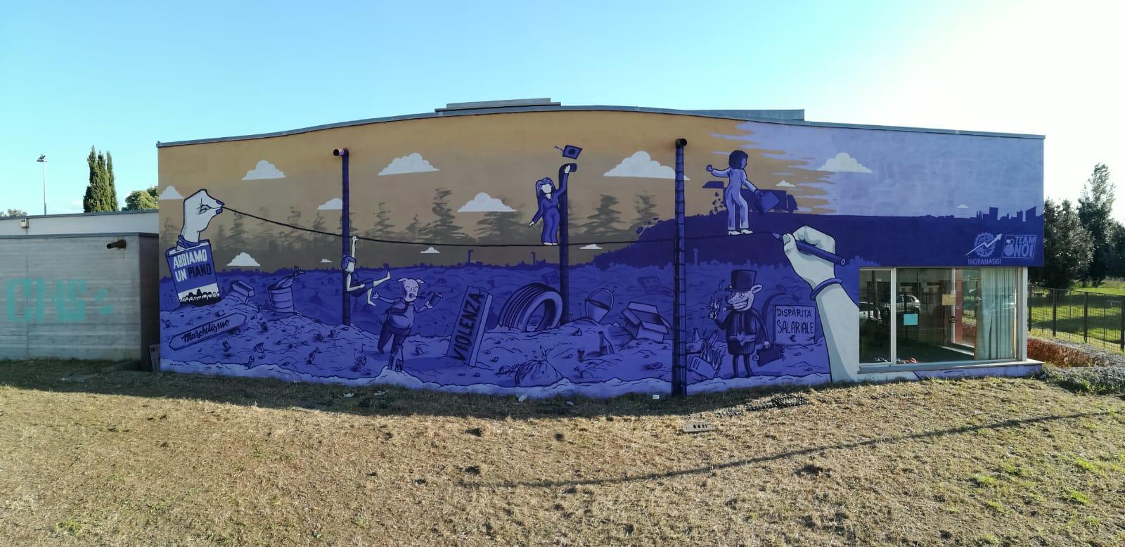murale disparità genere roma acilia