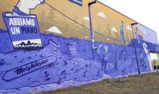 murales disparità genere roma acilia