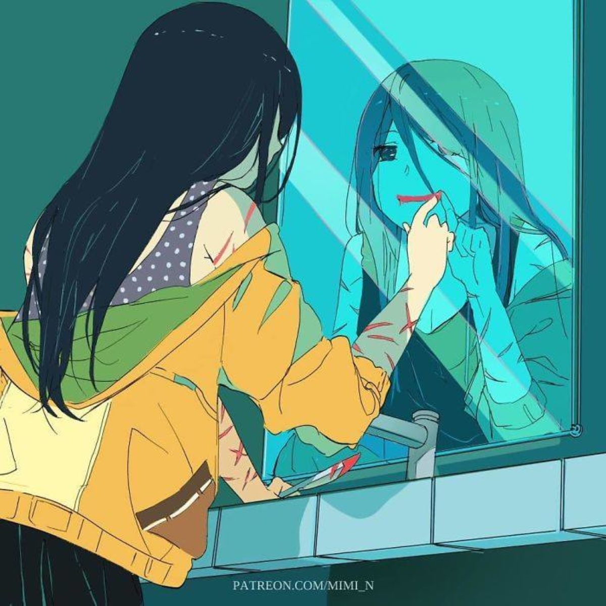 illustrazioni alienazione società moderna
