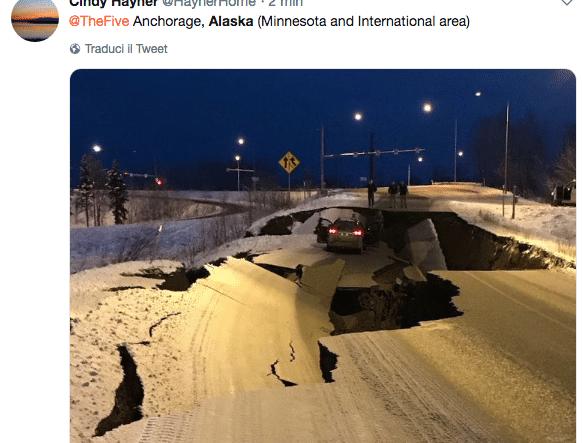 terremoto alaska oggi
