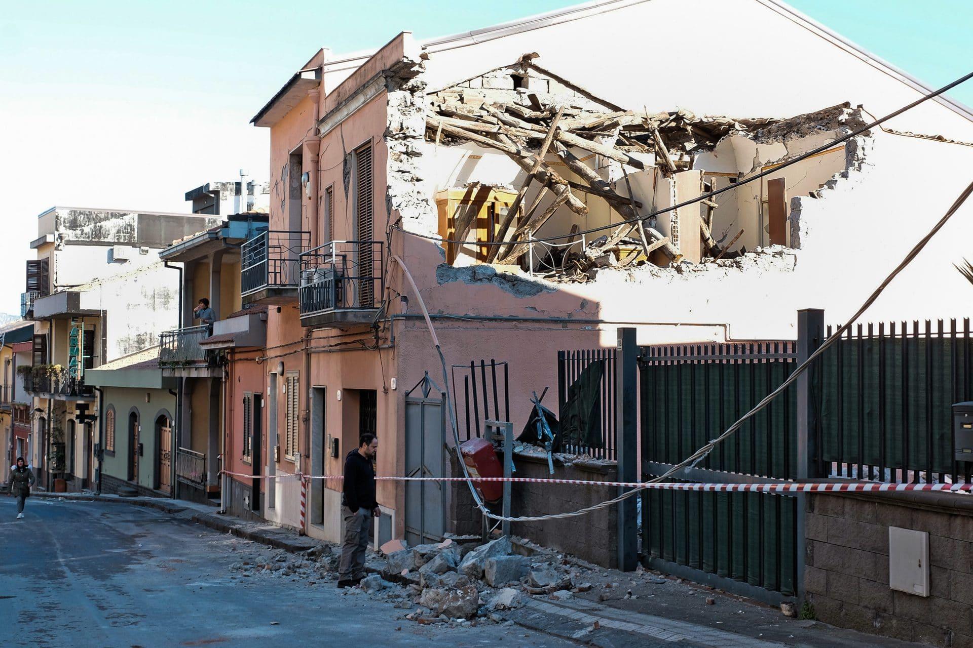 Terremoto Catania video e foto