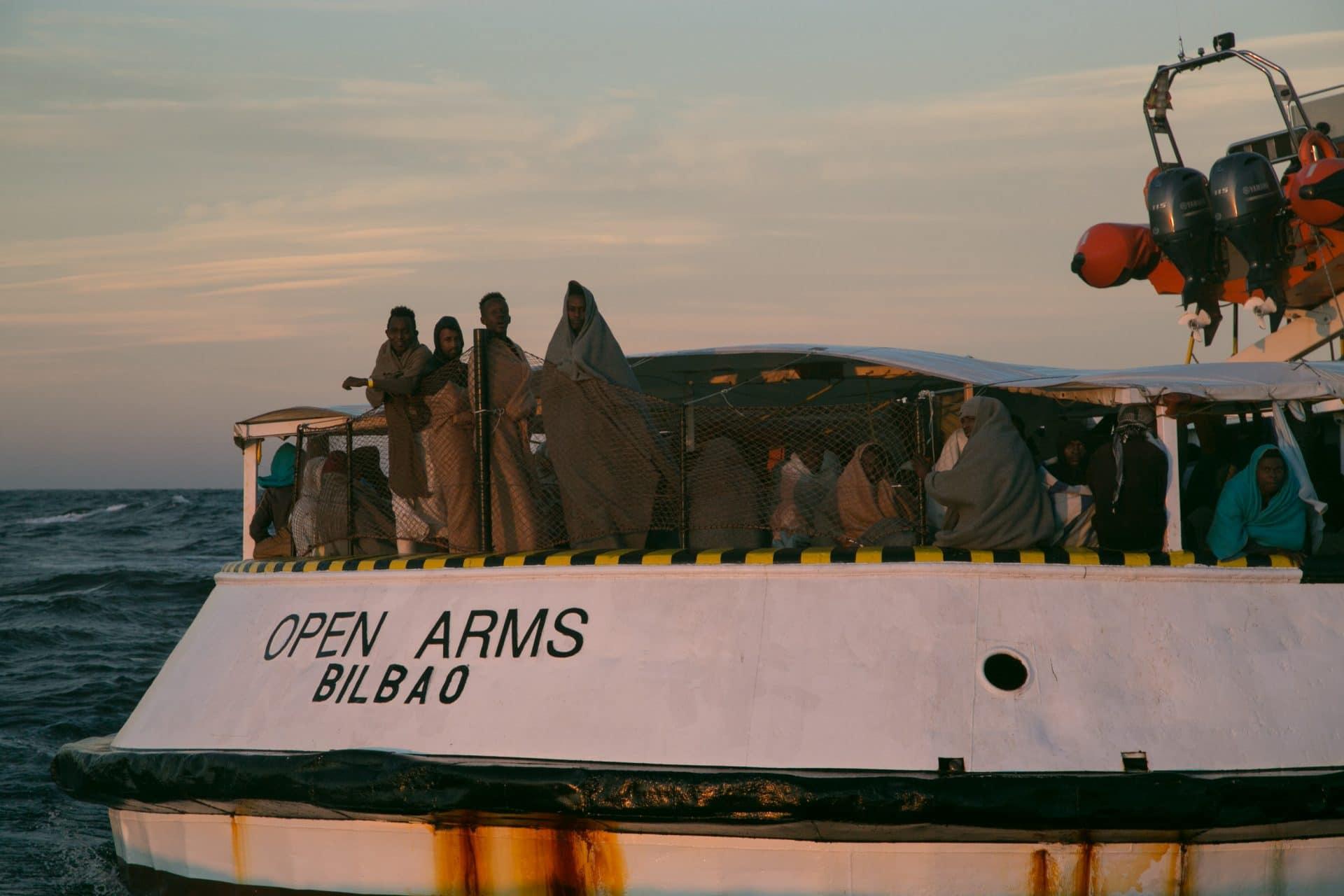 Open Arms migranti Natale