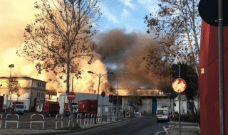 Roma incendio via Salaria
