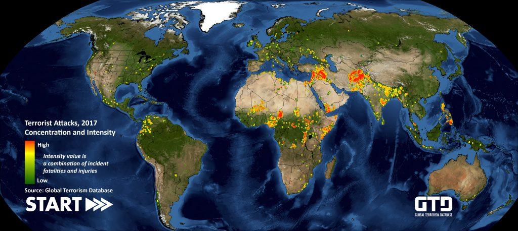 attentati terroristici nel 2017
