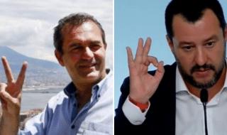 De Magistris Salvini migranti