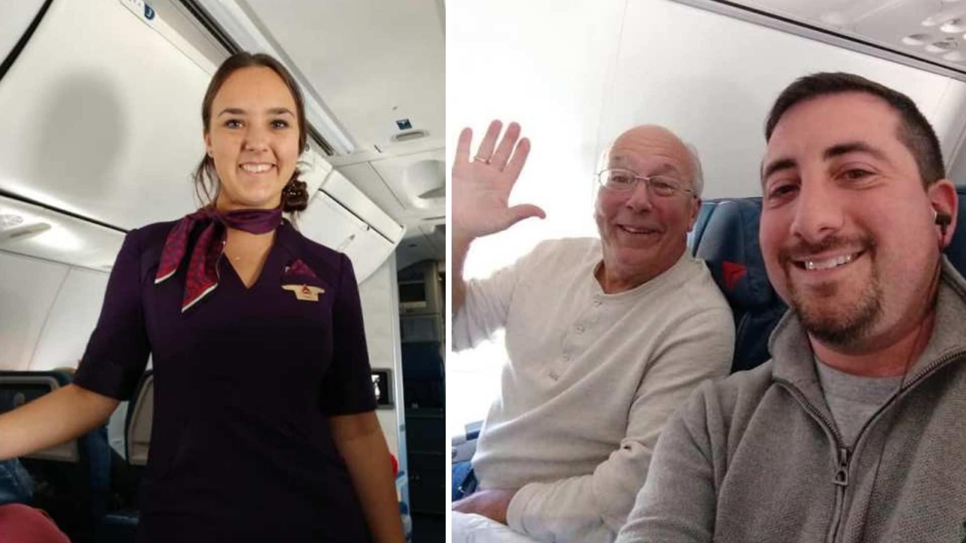 Hostess lavora 24-25, papà vola con lei