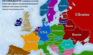 mappa emigrazione europa