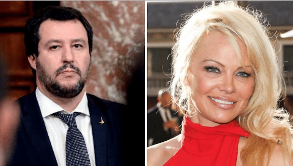 Pamela Anderson attacca Salvini: la risposta del ministro