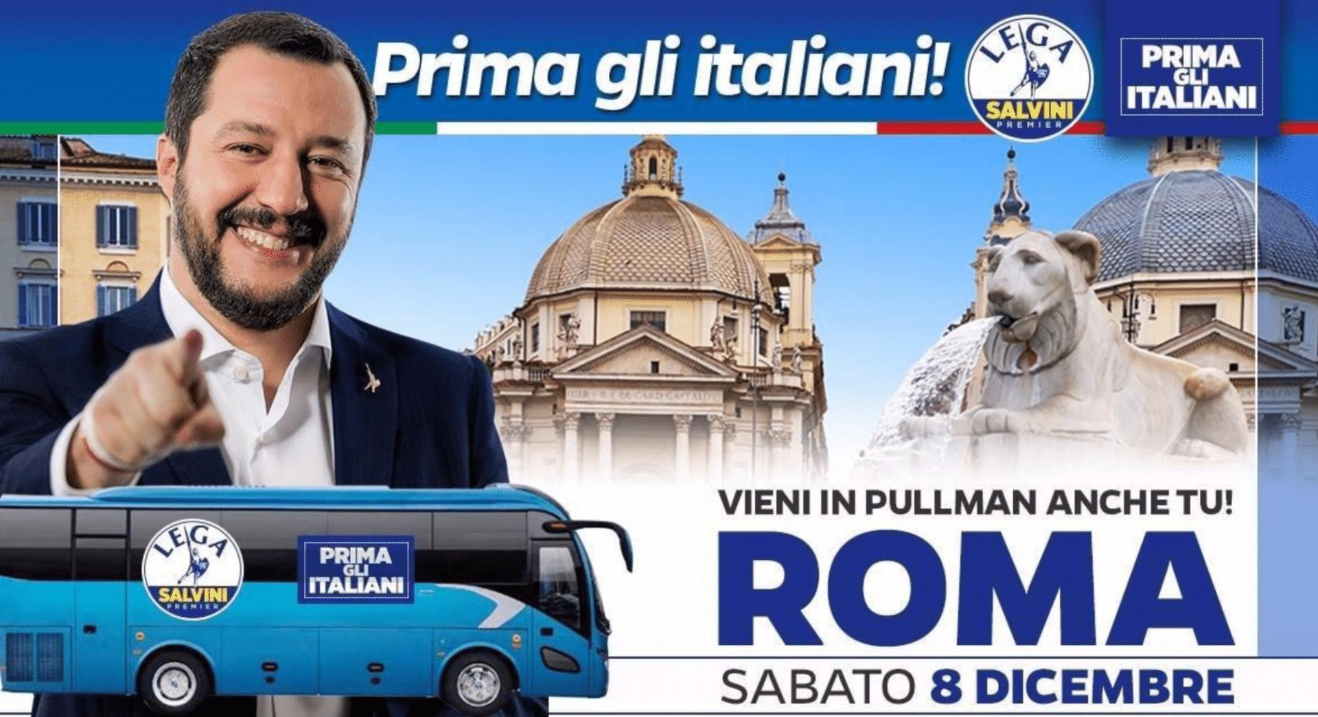 #romanunfalastupida: la campagna contro la manifestazione di Salvini