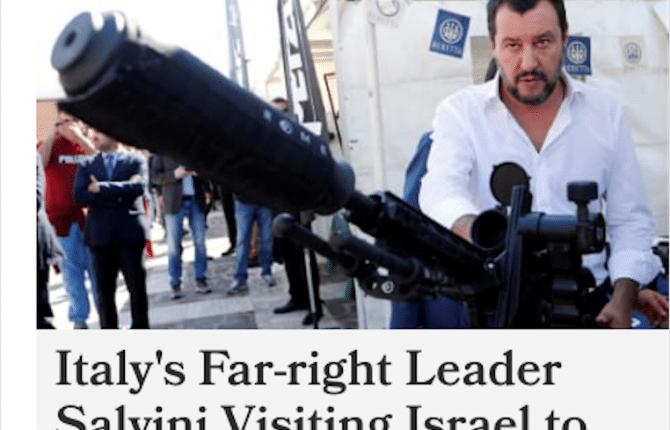 salvini visita israele