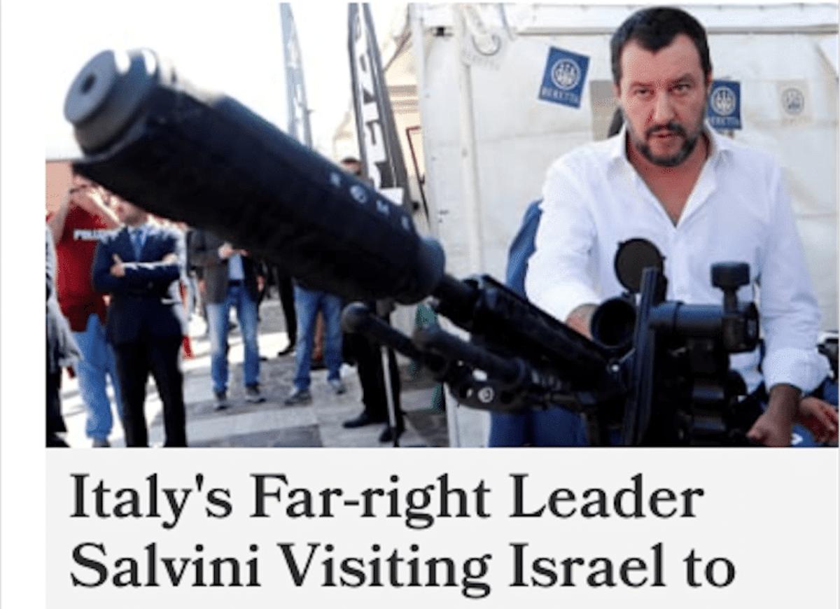 I tweet di Salvini da Israele imbarazzano la Difesa