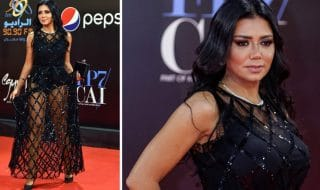 Rania Youssef abito trasparente