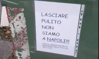 cartelli contro napoletani pordenone