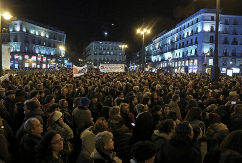 manifestazioni spagna vox