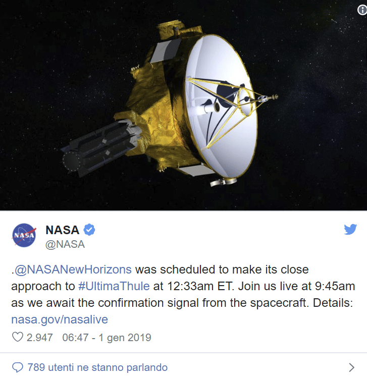 sonda new orizon