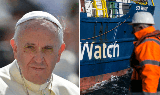 papa francesco sea watch