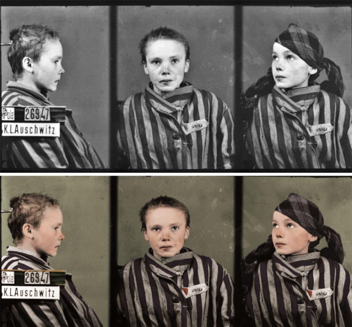 fotografie colori olocausto