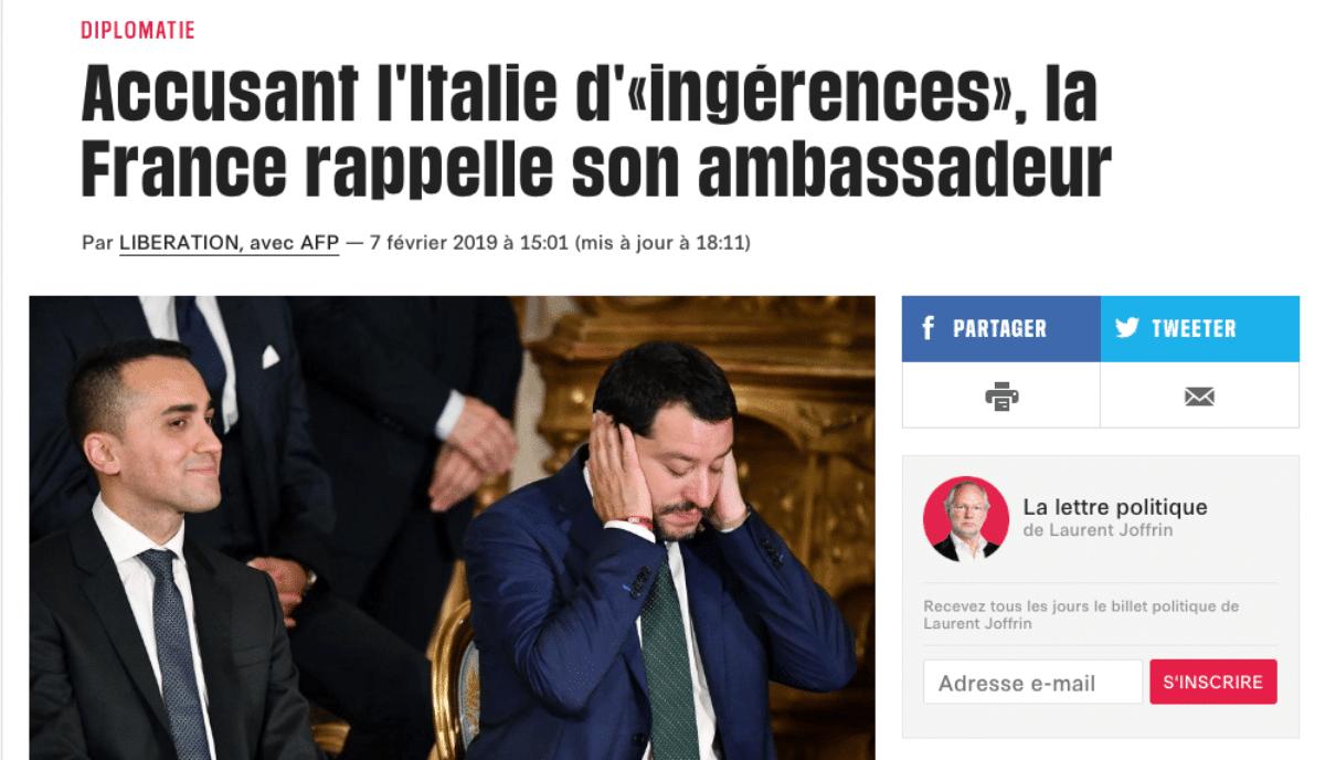 crisi italia francia stampa francese